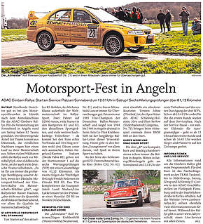 Motorsport-Fest in Angeln