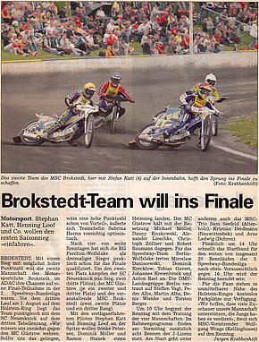 Brokstedt-Team will ins Finale